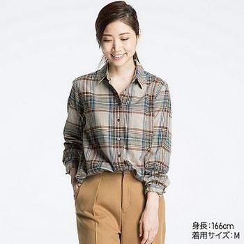 フランネルチェックシャツ(リラックスフィット・長袖).jpg