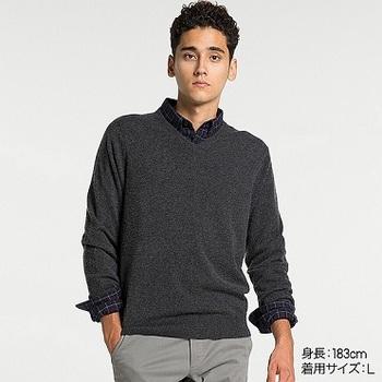 MEN カシミヤVネックセーター(長袖).jpg