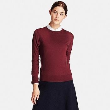 WOMEN エクストラファインメリノクルーネックセーター(長袖)+.jpg