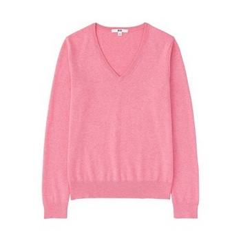 WOMEN コットンカシミヤVネックセーター(長袖).jpg