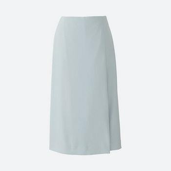 WOMEN ハイウエストドレープラップスカート(丈70~72cm).jpg